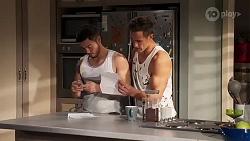 David Tanaka, Aaron Brennan in Neighbours Episode 8188