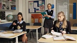 Yashvi Rebecchi, Harlow Robinson, Mackenzie Hargreaves in Neighbours Episode 8188