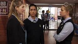 Mackenzie Hargreaves, Yashvi Rebecchi, Harlow Robinson in Neighbours Episode 8188