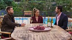 Mark Brennan, Chloe Brennan, Pierce Greyson in Neighbours Episode 8189