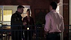 Mark Brennan, Chloe Brennan, Pierce Greyson in Neighbours Episode 8190