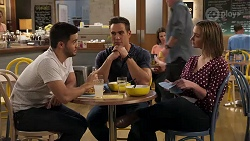 David Tanaka, Aaron Brennan, Amy Williams in Neighbours Episode 8190