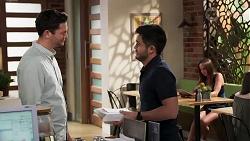 Finn Kelly, David Tanaka in Neighbours Episode 8190