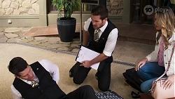 Trevor Nugent, Ned Willis, Scarlett Brady in Neighbours Episode 8192