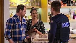 Shane Rebecchi, Dipi Rebecchi, Mark Brennan in Neighbours Episode 8193