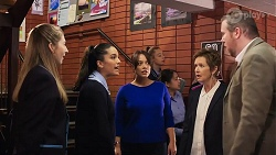 Mackenzie Hargreaves, Yashvi Rebecchi, Cherie Reyner, Susan Kennedy, Marty Muggleton in Neighbours Episode 8193