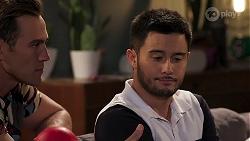 Aaron Brennan, David Tanaka in Neighbours Episode 8194