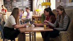 Harlow Robinson, Yashvi Rebecchi, Mackenzie Hargreaves in Neighbours Episode 8194