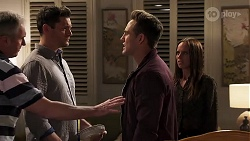 Karl Kennedy, Finn Kelly, Aaron Brennan, Bea Nilsson in Neighbours Episode 8195