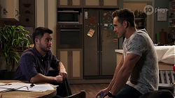 David Tanaka, Aaron Brennan in Neighbours Episode 8195