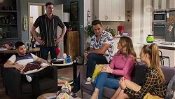 David Tanaka, Kyle Canning, Aaron Brennan, Scarlett Brady, Chloe Brennan in Neighbours Episode 8196