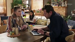 Mackenzie Hargreaves, Shane Rebecchi, Yashvi Rebecchi in Neighbours Episode 8197
