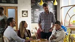 Pierce Greyson, Chloe Brennan, Mark Brennan, Hendrix Greyson in Neighbours Episode 8198