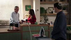 Karl Kennedy, Bea Nilsson, Finn Kelly in Neighbours Episode 8198