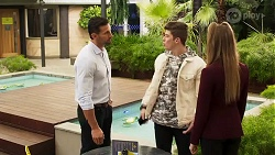 Pierce Greyson, Hendrix Greyson, Chloe Brennan in Neighbours Episode 8198