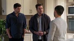 Finn Kelly, Shaun Watkins, David Tanaka in Neighbours Episode 8199