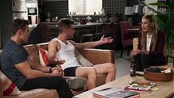 Aaron Brennan, Mark Brennan, Chloe Brennan in Neighbours Episode 8199