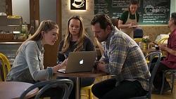 Mackenzie Hargreaves, Harlow Robinson, Shane Rebecchi in Neighbours Episode 8200