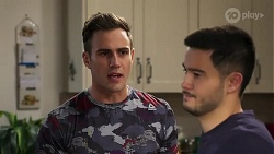 Aaron Brennan, David Tanaka in Neighbours Episode 8200