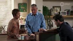Susan Kennedy, Karl Kennedy, Finn Kelly in Neighbours Episode 8200