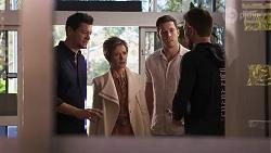 Finn Kelly, Susan Kennedy, Finn Kelly, Ned Willis in Neighbours Episode 8202