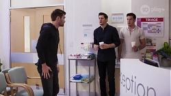 Ned Willis, Finn Kelly, Shaun Watkins in Neighbours Episode 8202