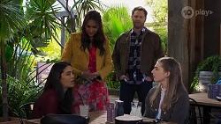 Yashvi Rebecchi, Dipi Rebecchi, Shane Rebecchi, Mackenzie Hargreaves in Neighbours Episode 8202
