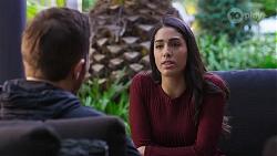 Ned Willis, Yashvi Rebecchi in Neighbours Episode 8202