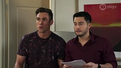 Aaron Brennan, David Tanaka in Neighbours Episode 8203