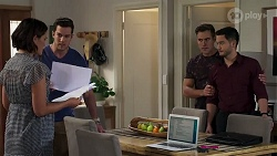 Elly Conway, Shaun Watkins, Aaron Brennan, David Tanaka in Neighbours Episode 8204