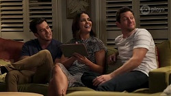 Shaun Watkins, Elly Conway, Finn Kelly in Neighbours Episode 8204