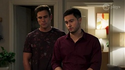 Aaron Brennan, David Tanaka in Neighbours Episode 8204
