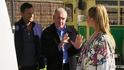 Pierce Greyson, Karl Kennedy, Chloe Brennan in Neighbours Episode 8205