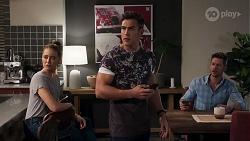 Chloe Brennan, Aaron Brennan, Mark Brennan in Neighbours Episode 8206
