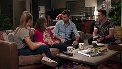 Chloe Brennan, Fay Brennan, Mark Brennan, Aaron Brennan in Neighbours Episode 8206