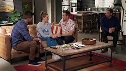 Mark Brennan, Chloe Brennan, Aaron Brennan, Pierce Greyson in Neighbours Episode 8206