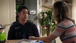 Constable Miles Doughty, Scarlett Brady in Neighbours Episode 8207