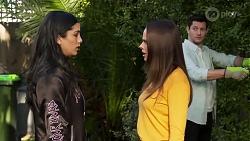 Yashvi Rebecchi, Bea Nilsson, Finn Kelly in Neighbours Episode 8208