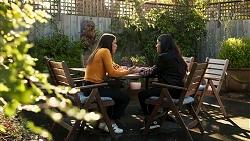 Bea Nilsson, Yashvi Rebecchi in Neighbours Episode 8208