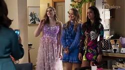 Dipi Rebecchi, Mackenzie Hargreaves, Harlow Robinson, Yashvi Rebecchi in Neighbours Episode 8210