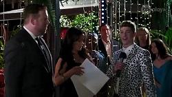 Marty Muggleton, Cherie Reyner, Hendrix Greyson in Neighbours Episode 8210