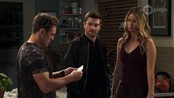 Aaron Brennan, Ned Willis, Scarlett Brady in Neighbours Episode 8213