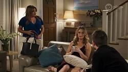 Terese Willis, Scarlett Brady, Ned Willis in Neighbours Episode 8213
