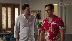 Finn Kelly, Aaron Brennan in Neighbours Episode 8213