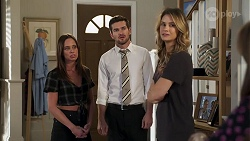 Bea Nilsson, Ned Willis, Scarlett Brady in Neighbours Episode 8213
