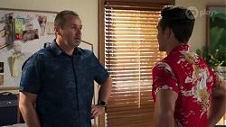 Toadie Rebecchi, Aaron Brennan in Neighbours Episode 8213