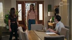 Bea Nilsson, Scarlett Brady, Finn Kelly in Neighbours Episode 8213