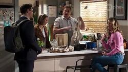 Finn Kelly, Amy Williams, Kyle Canning, Scarlett Brady in Neighbours Episode 8214