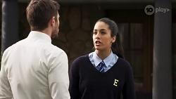 Ned Willis, Yashvi Rebecchi in Neighbours Episode 8214