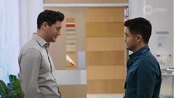 Finn Kelly, David Tanaka in Neighbours Episode 8215